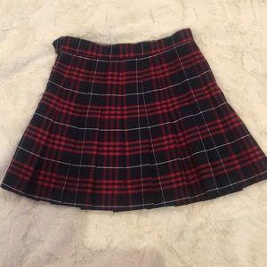 American Apparel Plaid Tennis Skirt